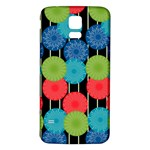 Vibrant Retro Pattern Samsung Galaxy S5 Back Case (White) Front