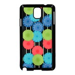 Vibrant Retro Pattern Samsung Galaxy Note 3 Neo Hardshell Case (Black) Front