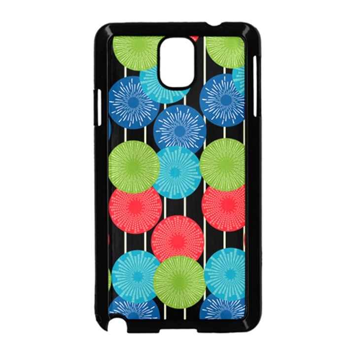 Vibrant Retro Pattern Samsung Galaxy Note 3 Neo Hardshell Case (Black)