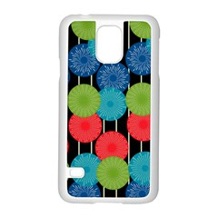 Vibrant Retro Pattern Samsung Galaxy S5 Case (White)