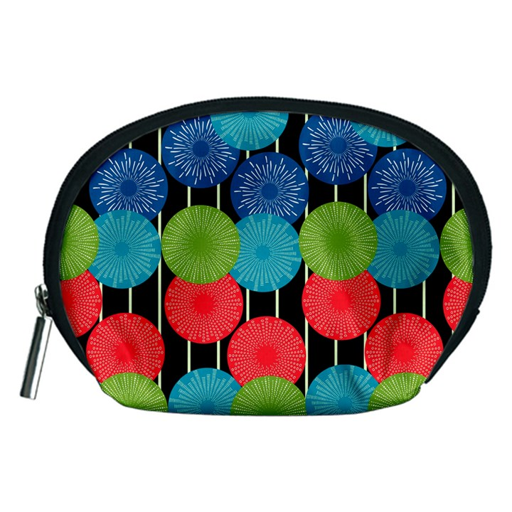 Vibrant Retro Pattern Accessory Pouches (Medium)