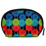 Vibrant Retro Pattern Accessory Pouches (Large)  Back