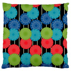 Vibrant Retro Pattern Large Flano Cushion Case (one Side)