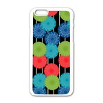 Vibrant Retro Pattern Apple iPhone 6/6S White Enamel Case Front