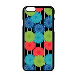 Vibrant Retro Pattern Apple iPhone 6/6S Black Enamel Case Front