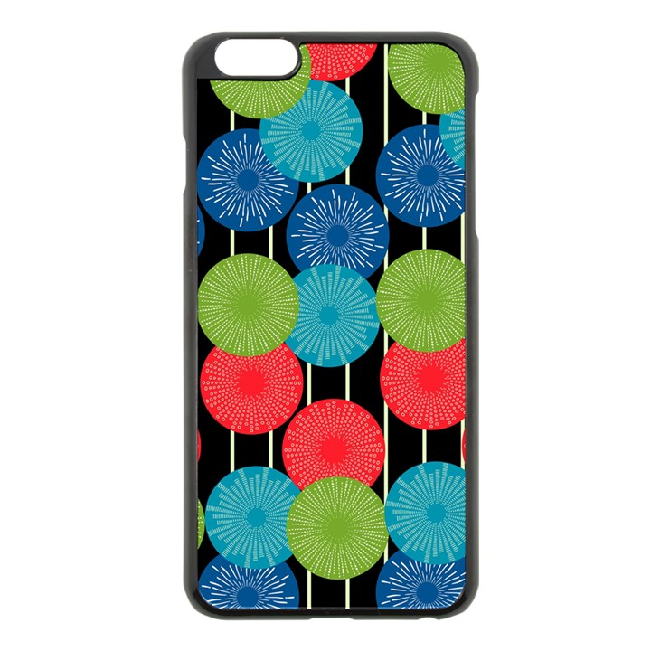 Vibrant Retro Pattern Apple iPhone 6 Plus/6S Plus Black Enamel Case