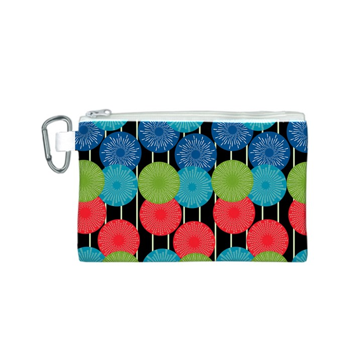 Vibrant Retro Pattern Canvas Cosmetic Bag (S)