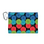 Vibrant Retro Pattern Canvas Cosmetic Bag (M) Front