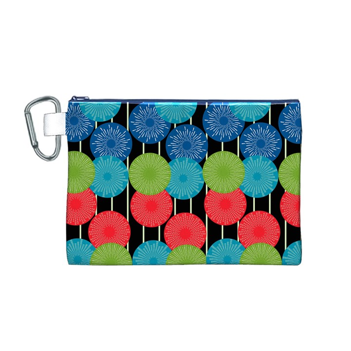 Vibrant Retro Pattern Canvas Cosmetic Bag (M)