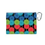 Vibrant Retro Pattern Canvas Cosmetic Bag (M) Back