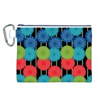 Vibrant Retro Pattern Canvas Cosmetic Bag (L) Front