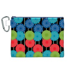 Vibrant Retro Pattern Canvas Cosmetic Bag (xl)
