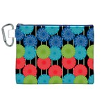 Vibrant Retro Pattern Canvas Cosmetic Bag (XL) Front