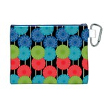 Vibrant Retro Pattern Canvas Cosmetic Bag (XL) Back