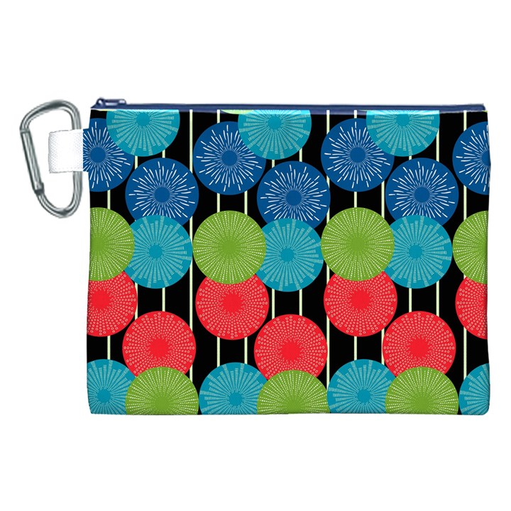 Vibrant Retro Pattern Canvas Cosmetic Bag (XXL)