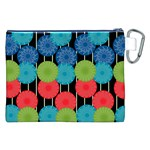 Vibrant Retro Pattern Canvas Cosmetic Bag (XXL) Back