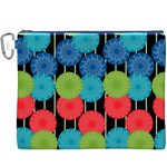 Vibrant Retro Pattern Canvas Cosmetic Bag (XXXL) Front