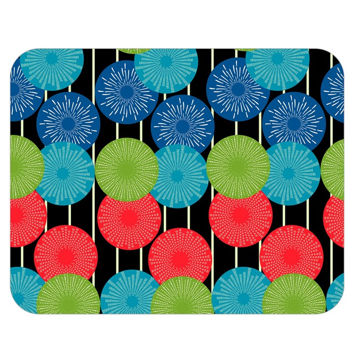 Vibrant Retro Pattern Double Sided Flano Blanket (Medium)