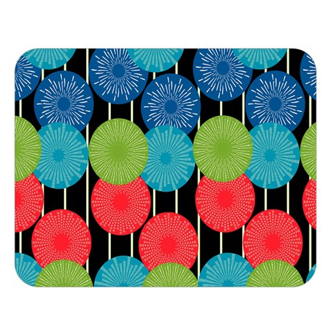 Vibrant Retro Pattern Double Sided Flano Blanket (Large)