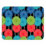 Vibrant Retro Pattern Double Sided Flano Blanket (Large)  80 x60 Blanket Front