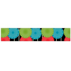 Vibrant Retro Pattern Flano Scarf (Large)