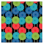 Vibrant Retro Pattern Large Satin Scarf (Square) Front