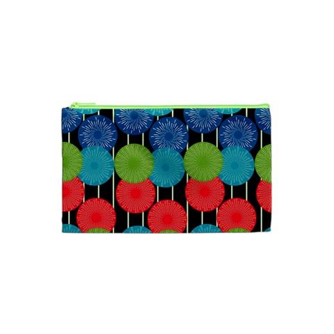 Vibrant Retro Pattern Cosmetic Bag (XS)