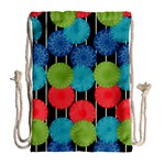 Vibrant Retro Pattern Drawstring Bag (Large) Back