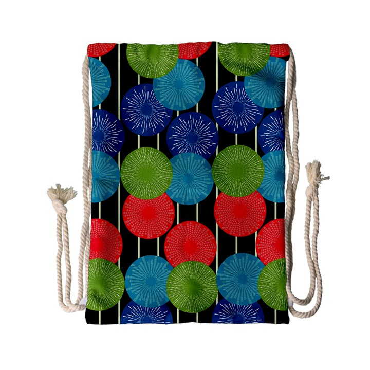 Vibrant Retro Pattern Drawstring Bag (Small)