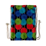 Vibrant Retro Pattern Drawstring Bag (Small) Back