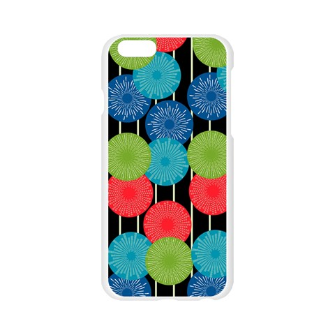 Vibrant Retro Pattern Apple Seamless iPhone 6/6S Case (Transparent)