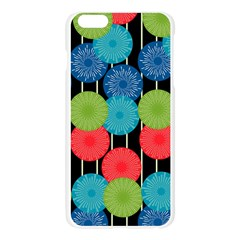 Vibrant Retro Pattern Apple Seamless iPhone 6 Plus/6S Plus Case (Transparent)