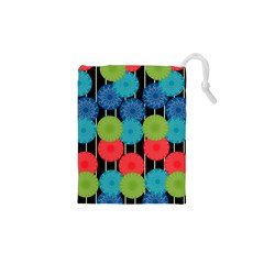 Vibrant Retro Pattern Drawstring Pouches (xs)