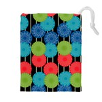 Vibrant Retro Pattern Drawstring Pouches (Extra Large) Front