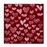 Watercolor Valentine s Day Hearts Tile Coasters Front
