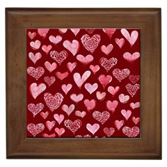 Watercolor Valentine s Day Hearts Framed Tiles