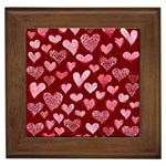 Watercolor Valentine s Day Hearts Framed Tiles Front