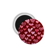 Watercolor Valentine s Day Hearts 1 75  Magnets