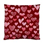 Watercolor Valentine s Day Hearts Standard Cushion Case (Two Sides) Front