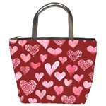 Watercolor Valentine s Day Hearts Bucket Bags Front