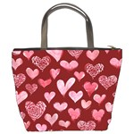Watercolor Valentine s Day Hearts Bucket Bags Back