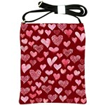 Watercolor Valentine s Day Hearts Shoulder Sling Bags Front