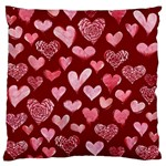 Watercolor Valentine s Day Hearts Standard Flano Cushion Case (Two Sides) Front