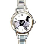 English Setter Full Round Italian Charm Watch Front