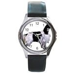 English Setter Full Round Metal Watch Front