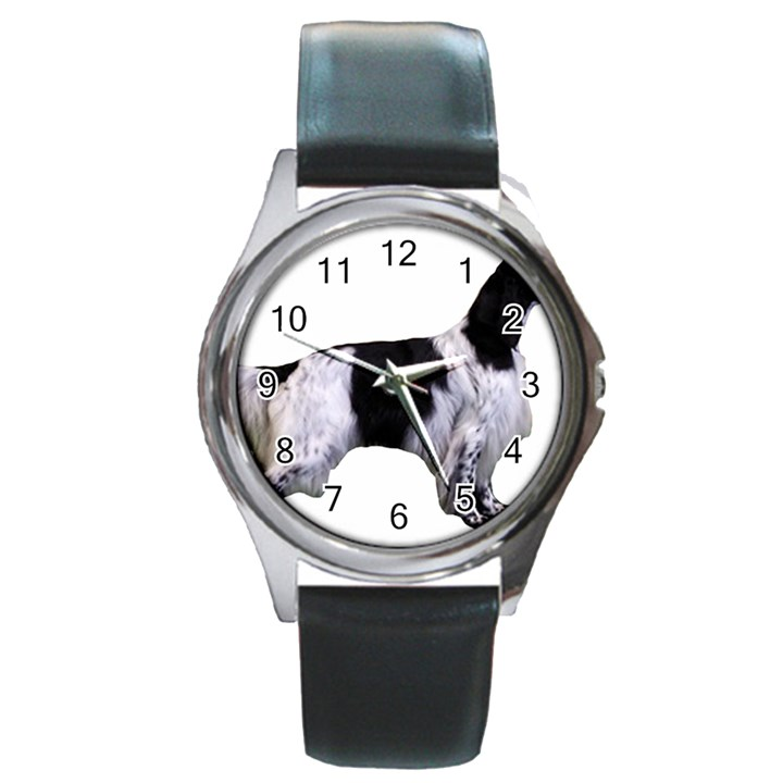 English Setter Full Round Metal Watch