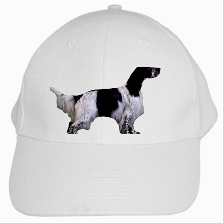 English Setter Full White Cap