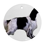 English Setter Full Ornament (Round)  Front