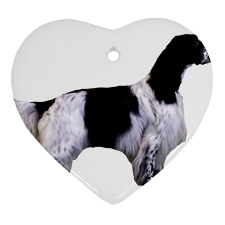 English Setter Full Ornament (Heart)