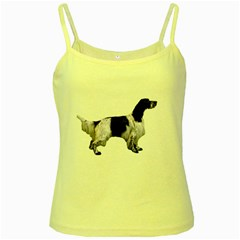 English Setter Full Yellow Spaghetti Tank